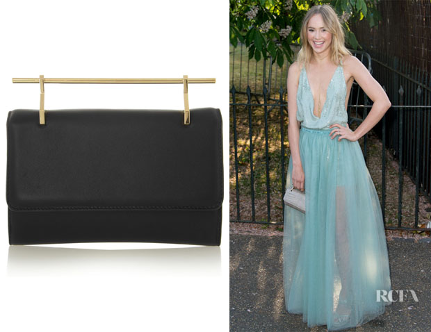 Suki Waterhouse's M2Malletier 'Fabricca' Leather Clutch