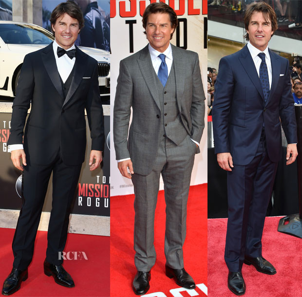 Tom Cruise In Giorgio Armani - 'Mission Impossible Rogue Nation' New York Premiere