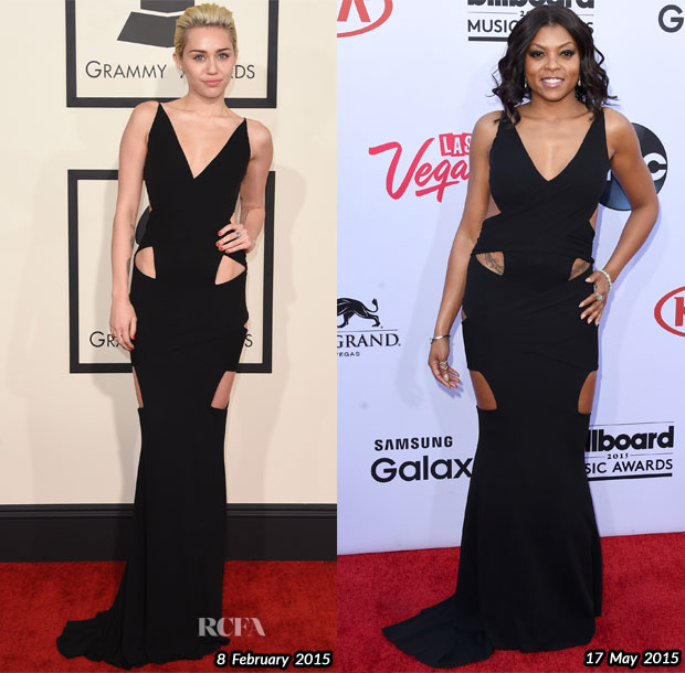 Who Wore Alexandre Vauthier Couture Better Miley Cyrus or Taraji P Henson