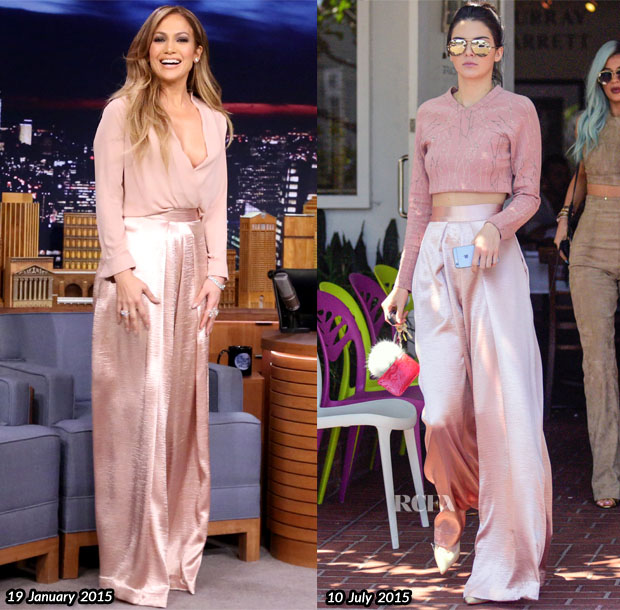 Who Wore Solace London Jennifer Lopez or Kendall Jenner