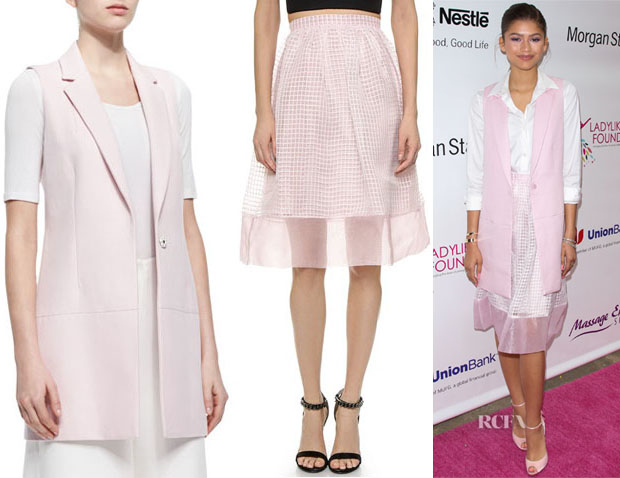 Zendaya Coleman's Elizabeth and James 'Finn' Long Suiting Vest And Elizabeth and James 'Avenue' Skirt