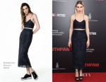 Zosia Mamet In Houghton - 'Southpaw' New York Premiere