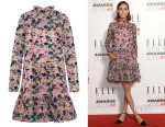 Alexa Chung's Erdem 'Betty' Embroidered Silk-Organza Mini Dress