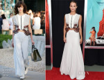 Alicia Vikander In Louis Vuitton - 'The Man From U.N.C.L.E.' New York Premiere