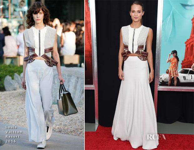 Alicia Vikander In Louis Vuitton - 'The Man From UNCLE ' New York Premiere