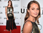 Alicia Vikander In Proenza Schouler -  'The Man From U.N.C.L.E.' Toronto Premiere