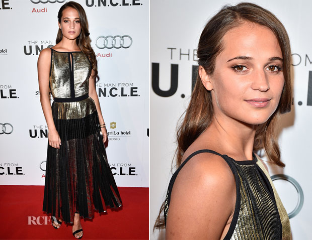 Alicia Vikander In Proenza Schouler -  'The Man From uncle  Toronto Premiere