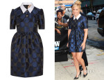 Amy Schumer's No. 21 Poplin-Trimmed Polka-Dot Taffeta Mini Dress