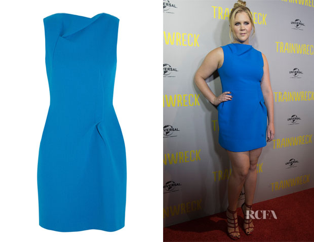 Amy Schumer's Roland Mouret 'Zonda' Wool-Crepe Mini Dress