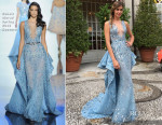 Ana Beatriz Barros In Zuhair Murad Couture - Royal Wedding of Beatrice Borromeo and Pierre Casiraghi