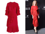 Cate Blanchett's Gucci Ruffled Silk-Georgette Dress