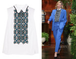 Cate Blanchett's Peter Pilotto Atom Embroidered Cotton-Poplin Shirt