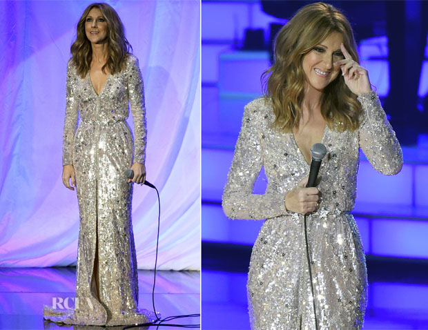 Celine Dion (In Zuhair Murad Couture) Returns To Caesars Palace Residency