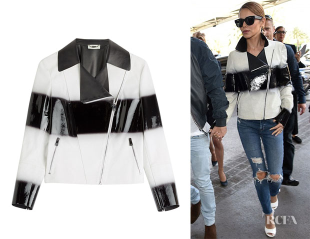 Cheryl Fernandez-Versini's Fendi Two-Tone Leather Jacket