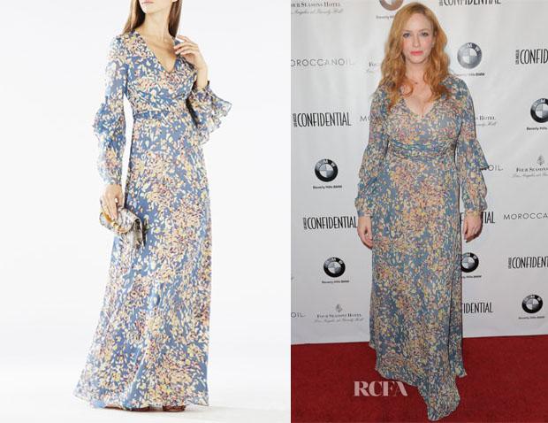 Christina Hendricks Bcbg Max Azria Beverle Maxi Dress