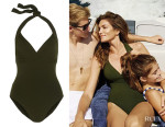 Cindy Crawford's Eres 'Les Essentiels Cassis' Halterneck Swimsuit