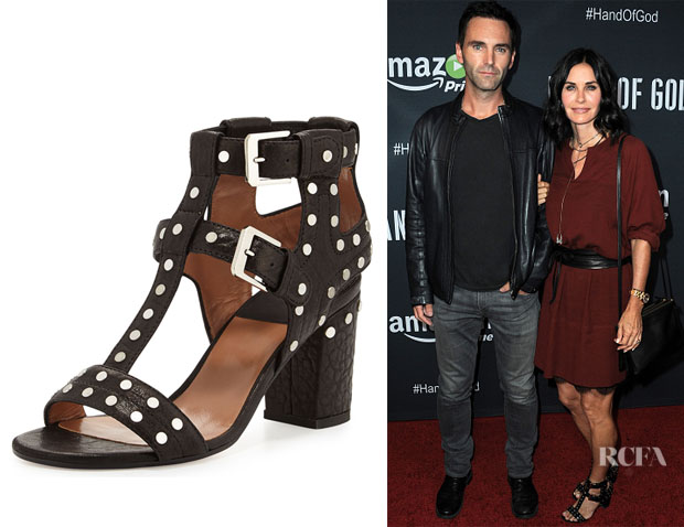 Courteney Cox's Laurence Dacade 'Helie' Studded Leather Caged Sandals