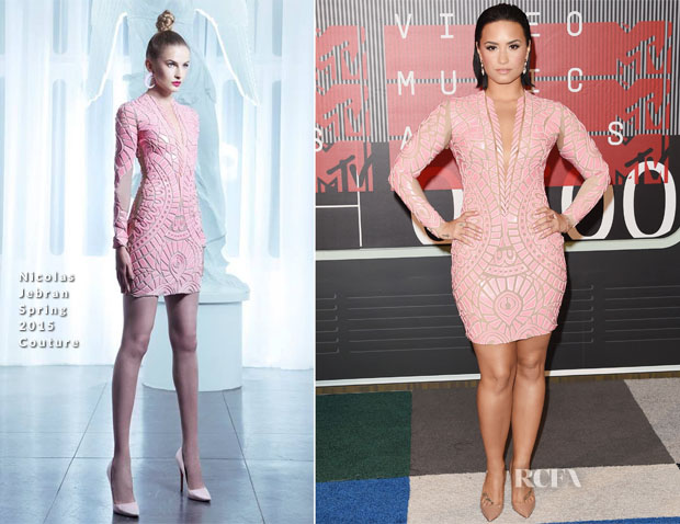Demi Lovato In Nicolas Jebran Couture - 2015 MTV Video Music Awards #VMAs