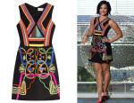Demi Lovato's Peter Pilotto Hendrix Mini Dress