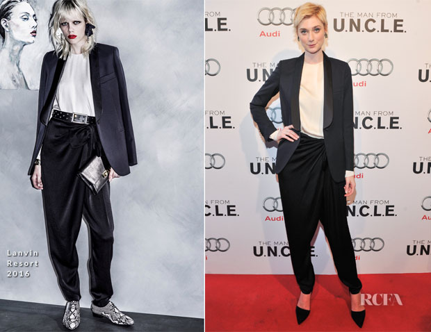 Elizabeth Debicki In Lanvin - 'The Man From UNCLE Toronto Premiere