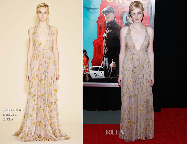 Elizabeth Debicki In Valentino - 'The Man From UNCLE New York Premiere