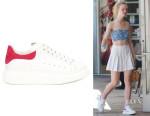 Elle Fanning's Alexander McQueen Oversize Sneakers