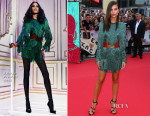 Emily Ratajkowski In Balmain - 'We Are Your Friends' Lille Premiere