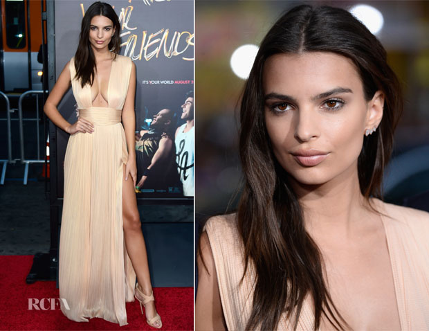 Emily Ratajkowski In Maria Lucia Hohan - 'We Are Your Friends' LA Premiere