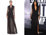 Gabrielle Union's Akris Stretch Wool Sheer Hem Gown