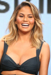 Chrissy Teigen in Alessandra Rich