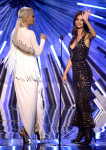 Rita Ora in  Alexandre Vauthier Couture and Emily Ratajkowski in  Altuzarra