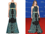 Gillian Jacobs' Peter Pilotto 'Atom' Jacquard Gown