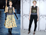 Greta Gerwig In Marc Jacobs - BUILD Series AOL Studios