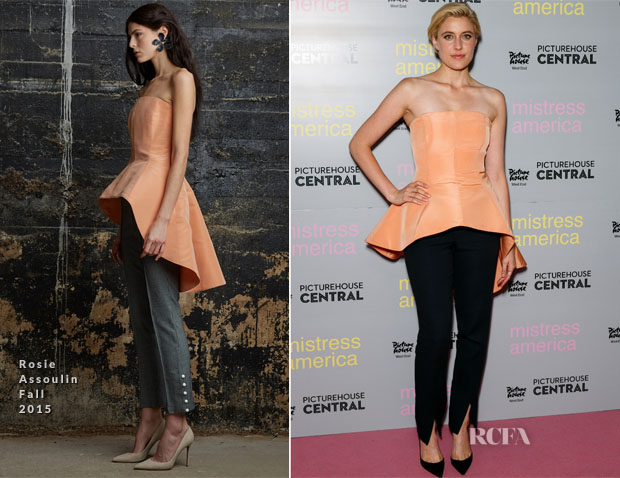 Greta Gerwig In Rosie Assoulin & Hellessy - 'Mistress America' London Photocall
