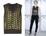 Greta Gerwig's Marc Jacobs Sequin Embellished Sweater Vest