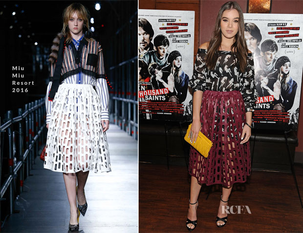 Hailee Steinfeld In Miu Miu - 'Ten Thousand Saints' LA Screening