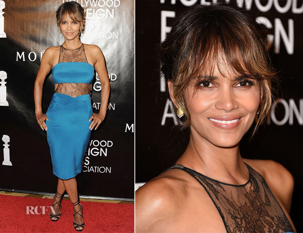Halle Berry In Noam Hanoch - HFPA Annual Grants Banquet
