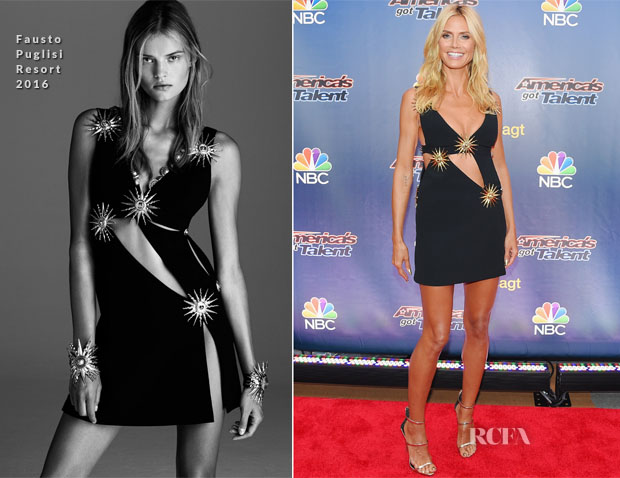 Heidi Klum In Fausto Puglisi - 'America's Got Talent' Season 10