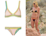 Heidi Klum's  Kiini 'Bea' Crocheted Cotton-Trimmed Triangle Bikini