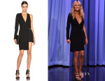 Heidi Klum's Versus Versace One-Sleeve Asymmetrical Dress
