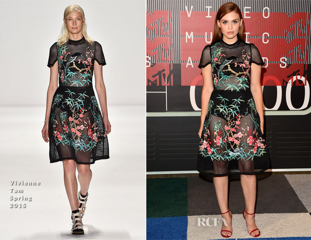Holland Roden In Vivienne Tam -  2015 MTV Video Music Awards #VMAs