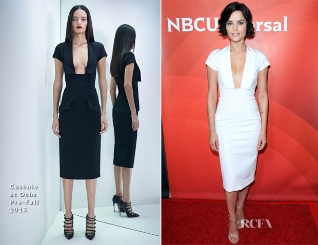 Jaimie Alexander In Cushnie et Ochs - NBCUniversal Press Tour 2015