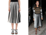 Jamie Chung's Proenza Schouler Pleated-Front Skirt
