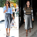 Jamie Chung's Day To Night Proenza Schouler Skirt
