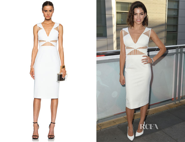 Jenna Dewan-Tatum's Cushnie et Ochs Power Viscose-Blend Dress