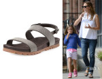 Jennifer Garner's Brunello Cucinelli 'Monili' Double-Strap Sandals
