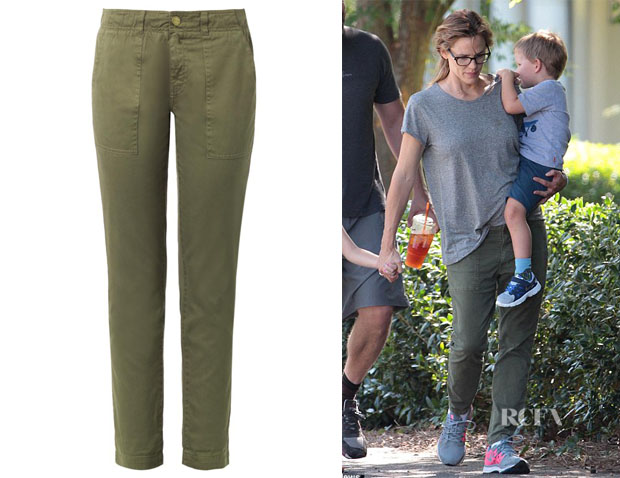 Jennifer Garner's Current Elliott 'The Army Buddy' Cotton Trousers