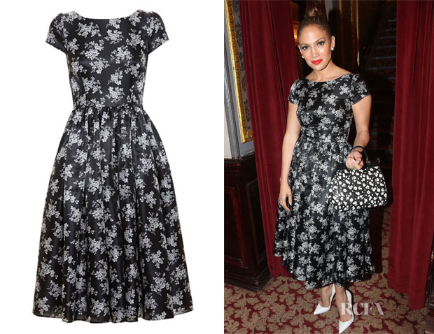 Jennifer Lopez' Dolce & Gabbana Floral Silk Organza Dress