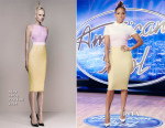 Jennifer Lopez In Alex Perry -  American Idol Little Rock Auditions