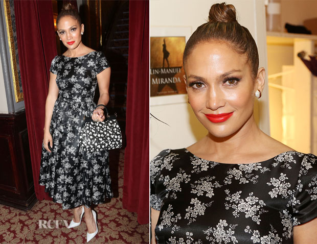 Jennifer Lopez In Dolce & Gabbana - 'Hamilton' Broadway Musical